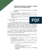 Common Revenue Measures, Etc