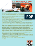 An open letter to victor Nitish Kumar