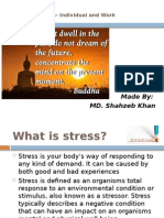 Stress- Individual and Work