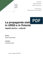 La propaganda stalinista in URSS e in Polonia, aspetti storico culturali