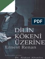 Ernst Renan - Dilin Kökeni Üzerine
