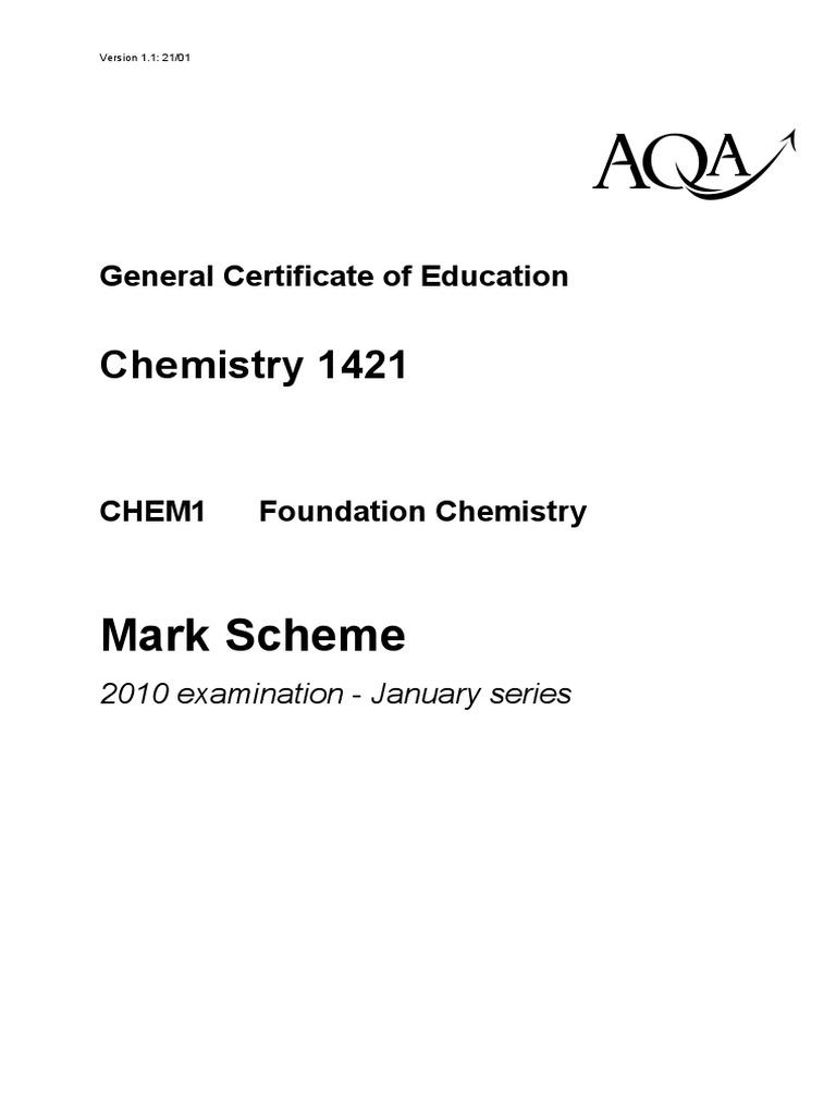 Aqa chem1 w ms jan10pdf intermolecular force chemical bond urtaz Images