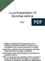 malaysia protocol Acute Exacerbation of Bronchial Asthma
