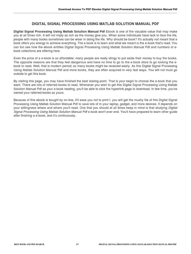 Digital signal processing using matlab solution manual pdf signal digital signal processing using matlab solution manual pdf signal electrical engineering digital signal processing fandeluxe Images