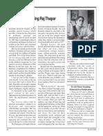 Remembering Raj Thapar