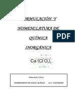 Apuntes de Formulacic3b3n y Nomenclatura Inorgc3a1nica