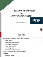 Optimization using cst tool box