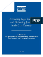Developing Legal Careers and Delivering Justice in the 21st Century