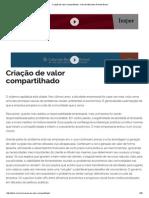 Criação de Valor Compartilhado - Harvard Business Review Brasil