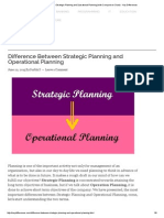 Difference Between Strategic Planning and Operational Planning (With Comparison Chart) - Key Differences