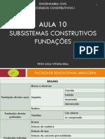 Aula 10 - Subsistemas Construtivos