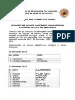 Mikoa Itakayofanya Uchaguzi Kwa Sababu Ya Vifo Trh 22 Nov 2015