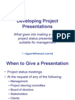 Developing Project Presentations