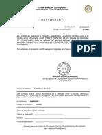 Certificado Alumno Regular Primer Semestre 2010