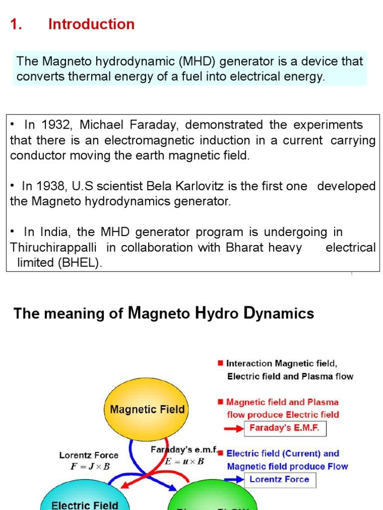 Magneto Hydrodynamics Generator | Electric Generator (8 views)