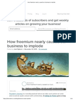 How Freemium Nearly Caused Our Business to Implode