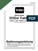 Toro Operators Manual  523 dxi