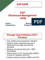 Storage type indicators in SAP WM