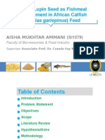 Lupin Seed as replacement for Fishmeal in African Catfish (Clarias gariepienus) Feed