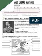 Lecon La Deuxieme Guerre Mondiale