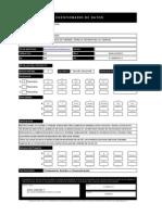Modelo de Cuestionario de Datos - Cálculos Acústicos