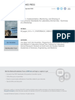 Design, Implementation, Monitoring, And Sharing of Performance Standards for Laboratory Animal Use