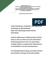 Begrüßungsrede der Niedersächsischen Landesbeauftragten für Migration und Teilhabe Doris Schröder-Köpf, MdL