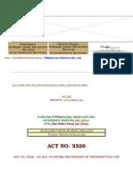 act no. 3326