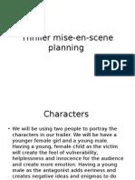 Thriller Mise en Scene Planning