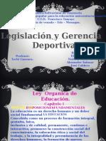 Legislacion y Gerencia Deportiva