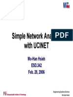 Simple network analysis with UCINET