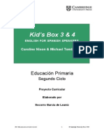 Kid's Box 3 & 4 ENGLISH FOR SPANISH SPEAKERS