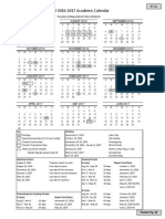 HISD Proposed Calendar 2016-17