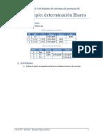 Ejemplo Cálculo matriz impedancia de barra.
