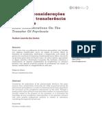 Algumas considerações acerca da transferência na psicose