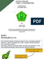 Slide Referat Obat Antipsikotik