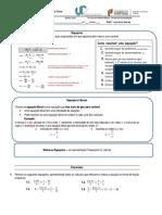 Ficha Reforço Nº3 Equações