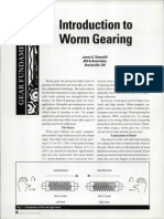 Introduction to Worm Gearing