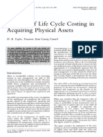 The Use of Life Cycle Costing in Acquiring Physical Assets