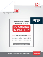 ESE -  2016 EXAM CALENDE