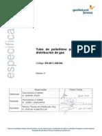 CEG - ES.0011.GN.dg-2010 - Tubo de Polietileno Para Sistema de Distribución de Gas