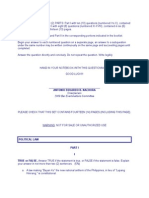 2009 Poli Questions