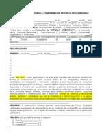 Acta Constitutiva Círculos Ciudadanos