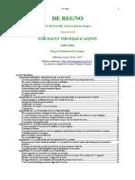 Thomas d'Aquin les 80 opuscules -  20- De regno