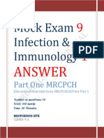 Answer of Infection and Immunology Mock Exam 9