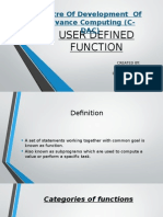 Userdefinedfunctions