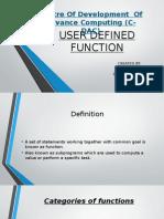 Userdefinedfunctions