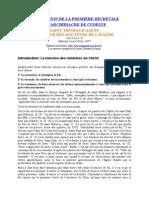 Thomas d'Aquin les 80 opuscules -  23- Explcation de La Première Décrétale
