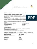Norma Tecnica de Competencia Laboral Almacen