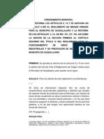 Reglamento Imagen Urbana y Giros Comerciales